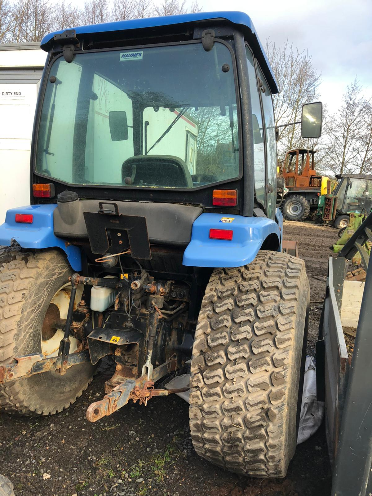 Lot 40 - NEW HOLLAND TS45D COMPACT TRACTOR BLUE, ENGINE TURNS WITH COMPRESSION BUT WONT FIRE, ONLY 1491 HOURS