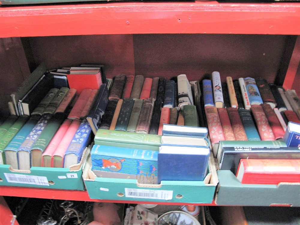Lot 21 - Books- Thackeray, Dickens, Twain and other works:- Three Boxes