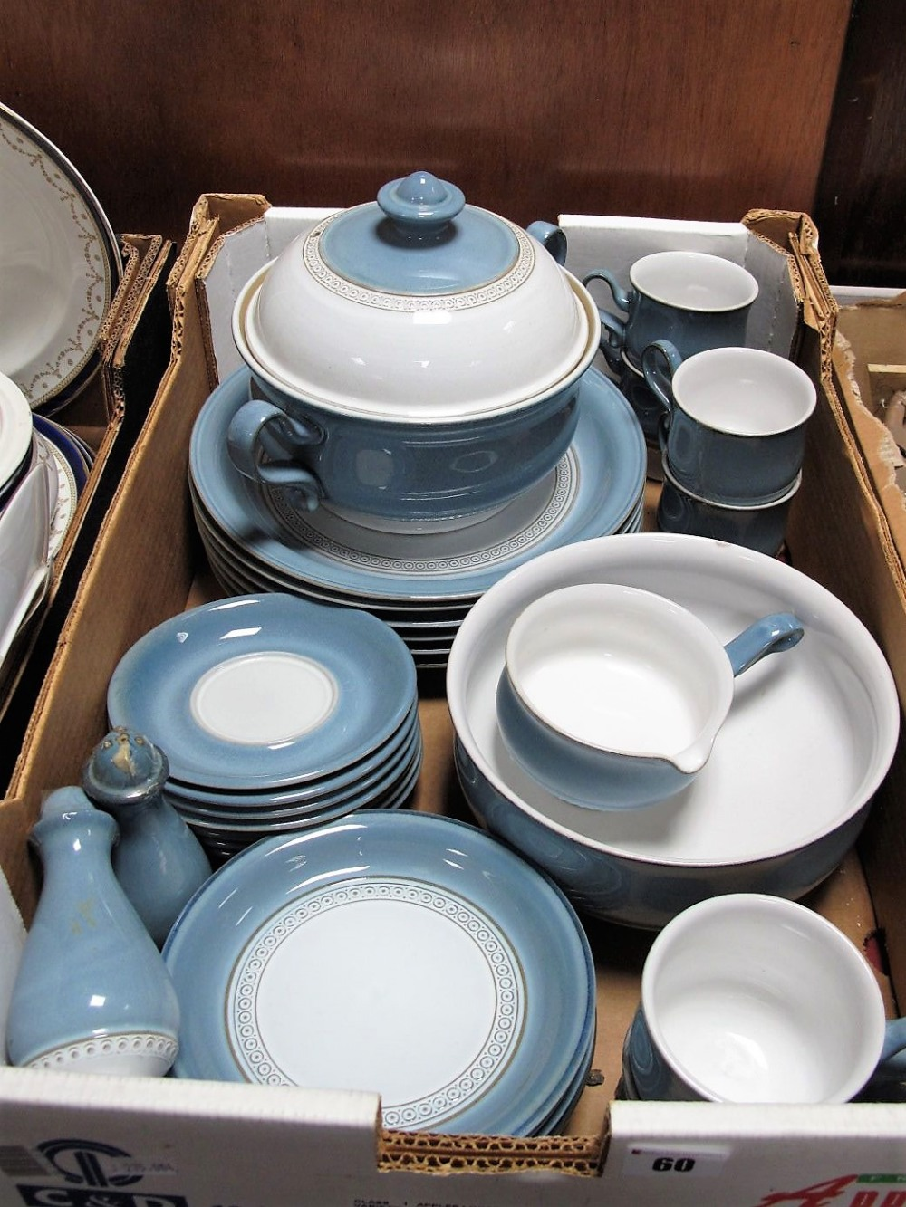 Lot 60 - Denby Castile Table Ware of Thirty Pieces:- One Box