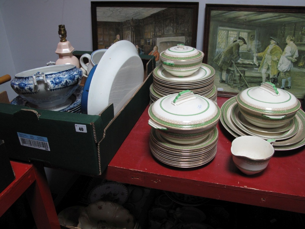 Lot 40 - A Circa 1920's/30's Crown Devon Part Dinner Service, over 40 pieces, dinner plates, side plates,