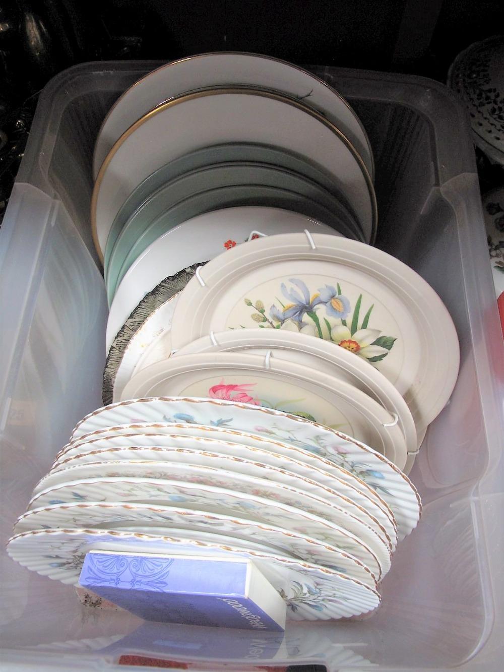 Lot 24 - Royal Albert 'Brigadoon' Dinner Plates, Coalport and others:- One Box