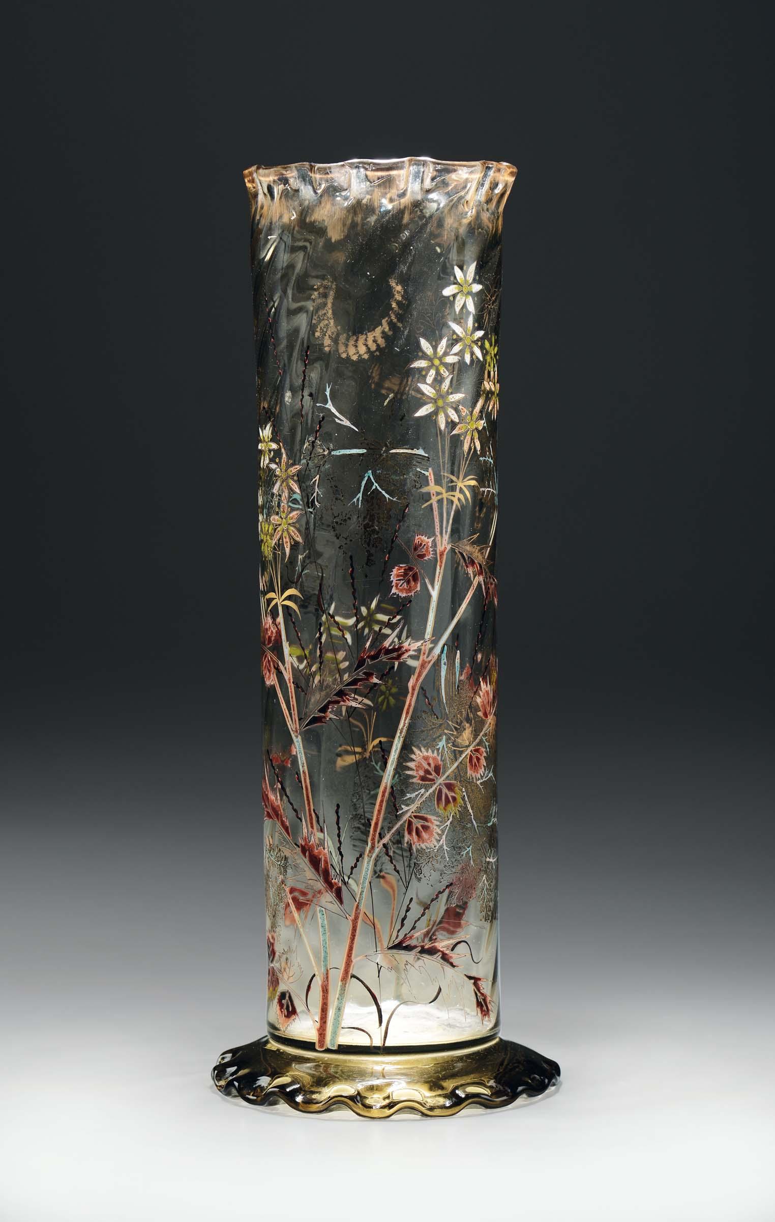 Emile galle 1846 1904 nancy vaso in vetro trasparente for Vaso galle