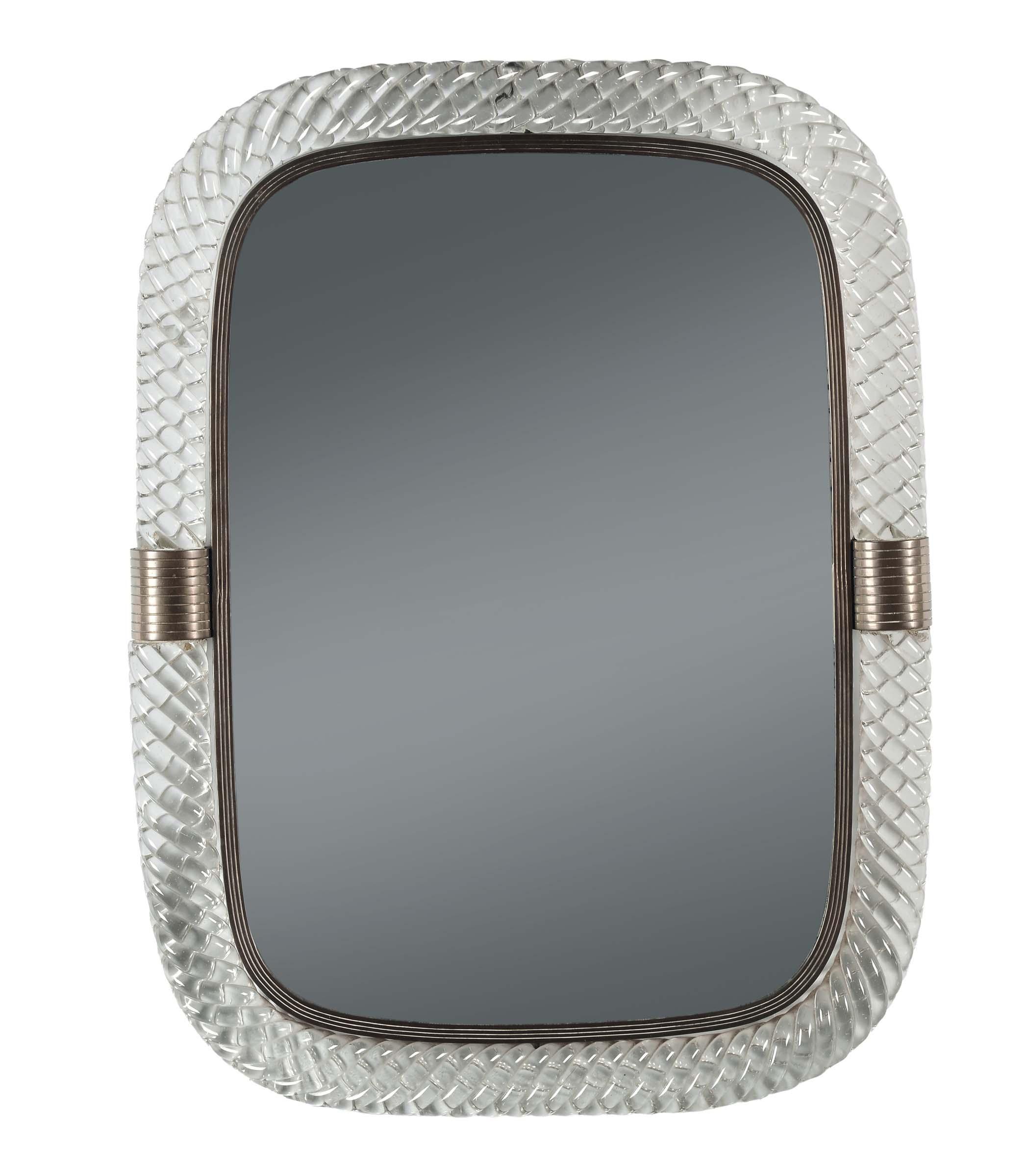Venini murano specchio con cornice di vetro a for Lots specchio