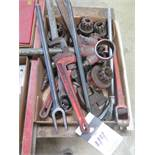 Pipe Dies and Handles, Pipe Wrenches and Strap Wrenches