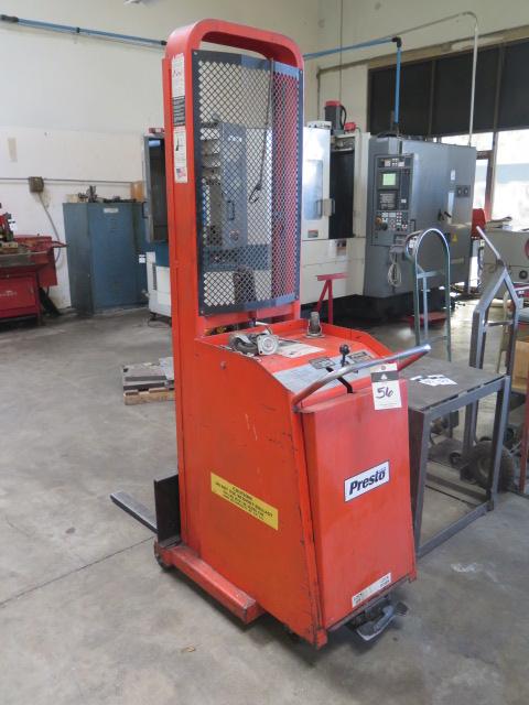 Presto mdl. C62 1000 Lb Cap Electric/Hydraulic Pallet Mover s/n 157597