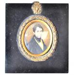 EARLY 19TH CENTURY GEORGIAN WATERCOLOUR PAINTING ON IVORY