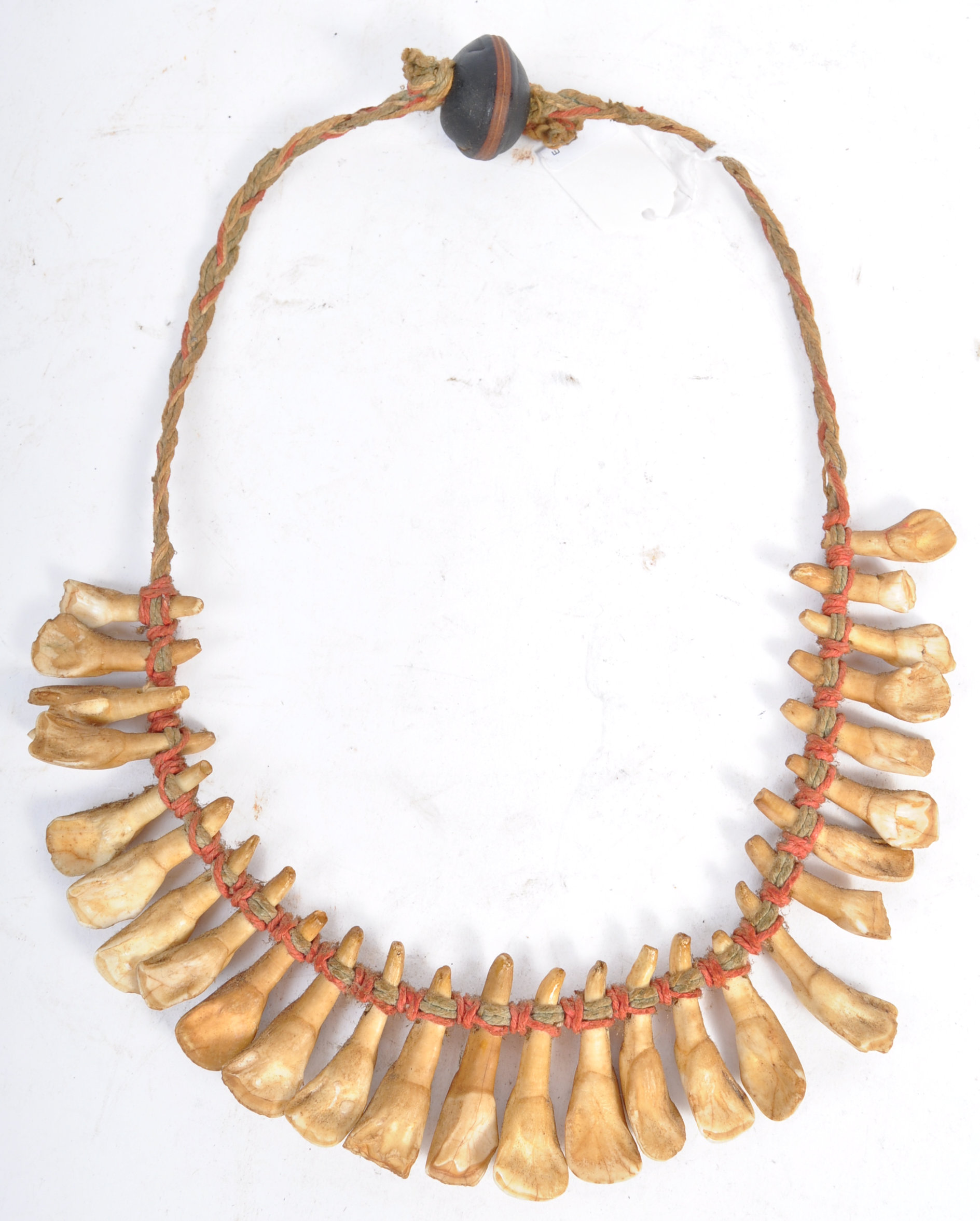 TRIBAL ANTIQUITIES - 19TH CENTURY AFRICAN TOOTH NECKLACE