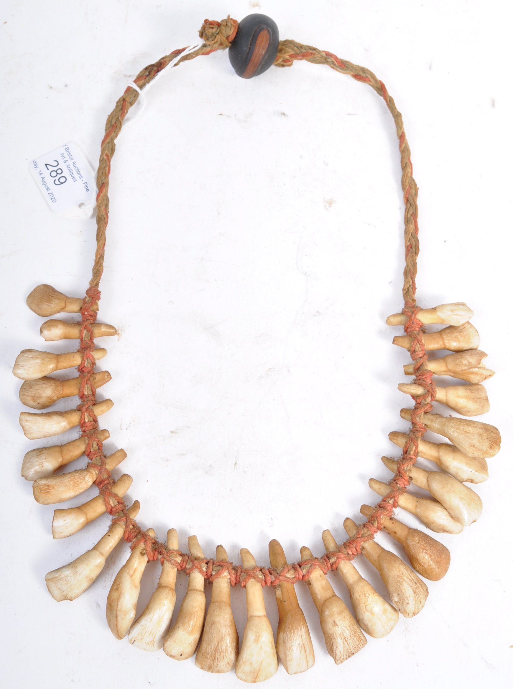 TRIBAL ANTIQUITIES - 19TH CENTURY AFRICAN TOOTH NECKLACE - Bild 6 aus 7