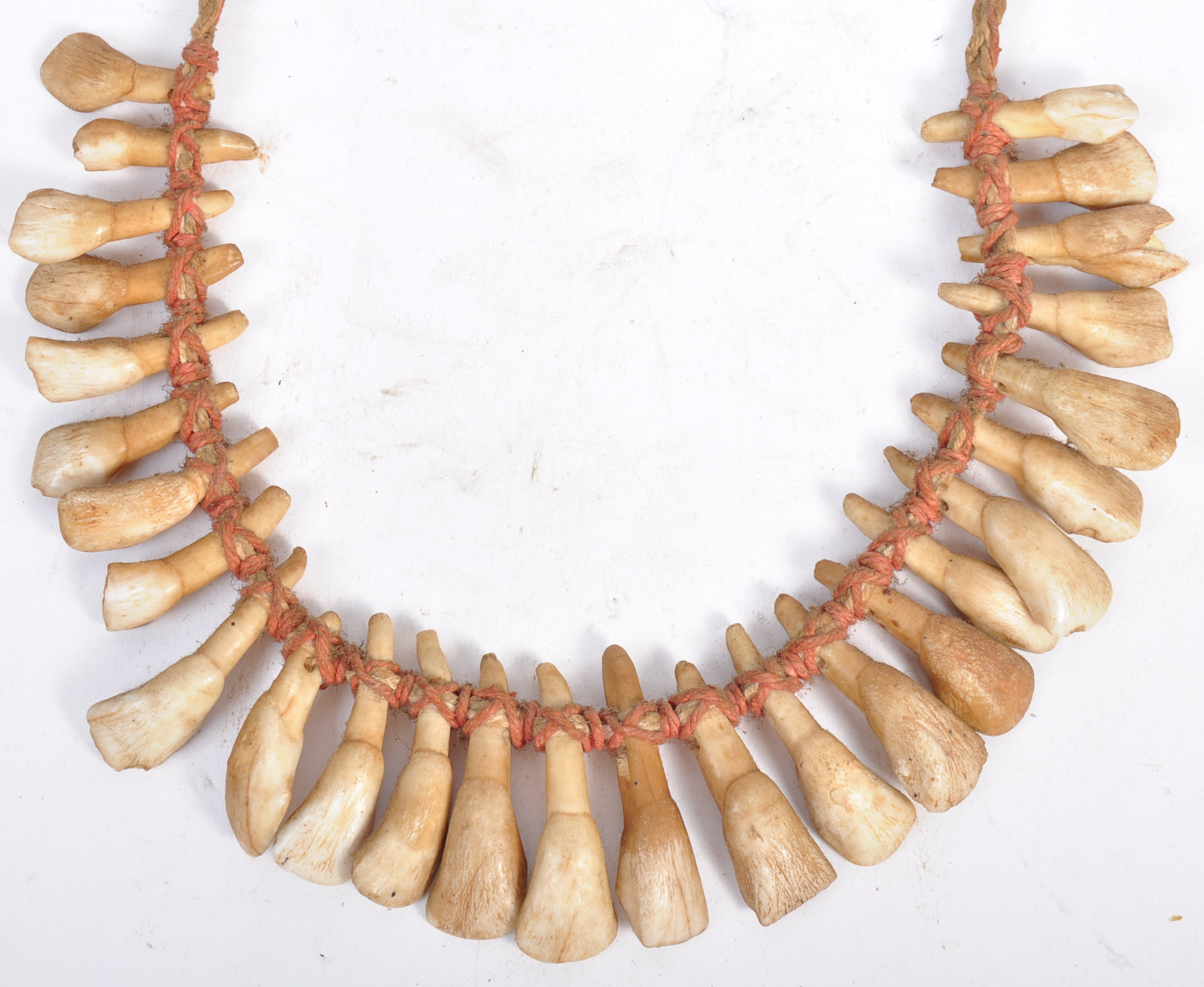 TRIBAL ANTIQUITIES - 19TH CENTURY AFRICAN TOOTH NECKLACE - Bild 7 aus 7