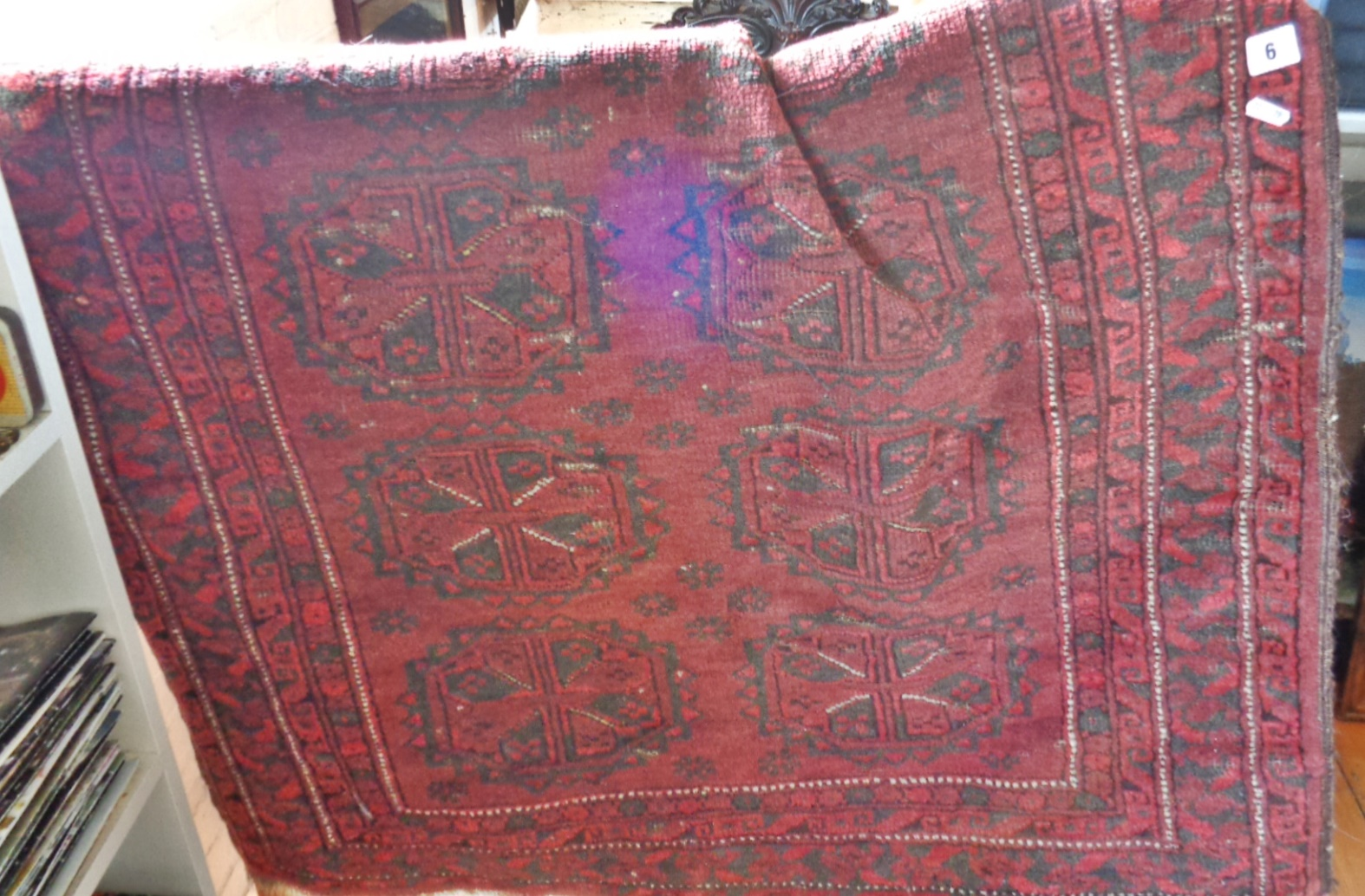 """Lot 6 - Antique Persian rug, 68"""" x 44"""""""