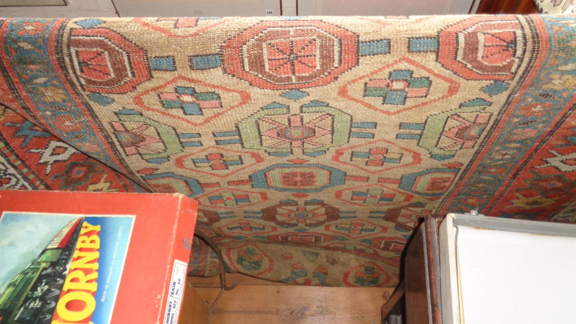 "Lot 2 - Antique Caucasian rug, approx 52"" x 100"""