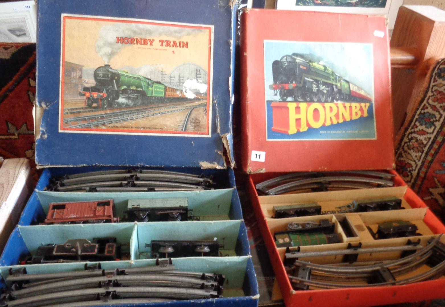 "Lot 11 - Two vintage Hornby ""O"" gauge train sets (boxed)"