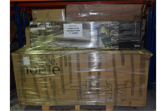 Mixed Pallet Of Asda Returns Garden Furniture And Barbeque Total