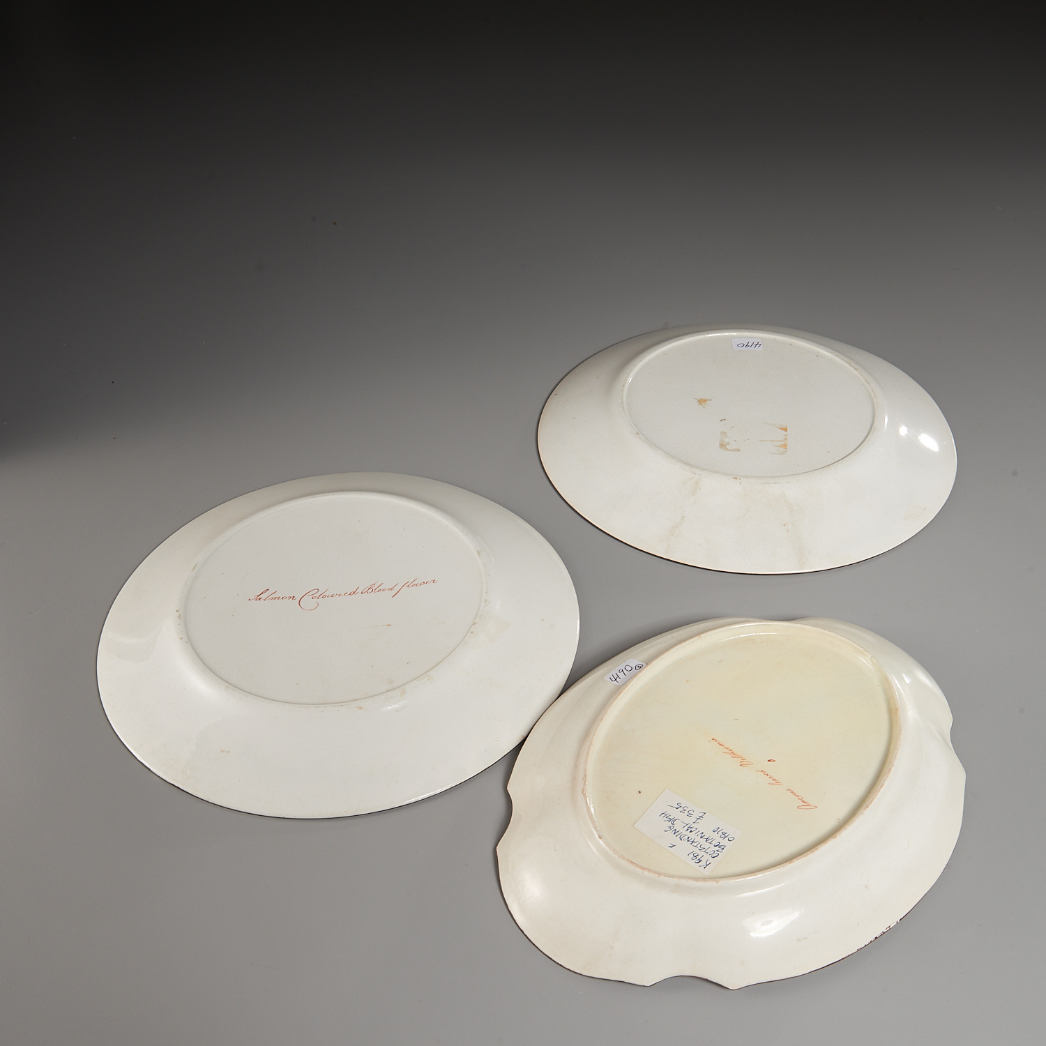 Lot 2 - (3) English Creamware Botanical Dishes