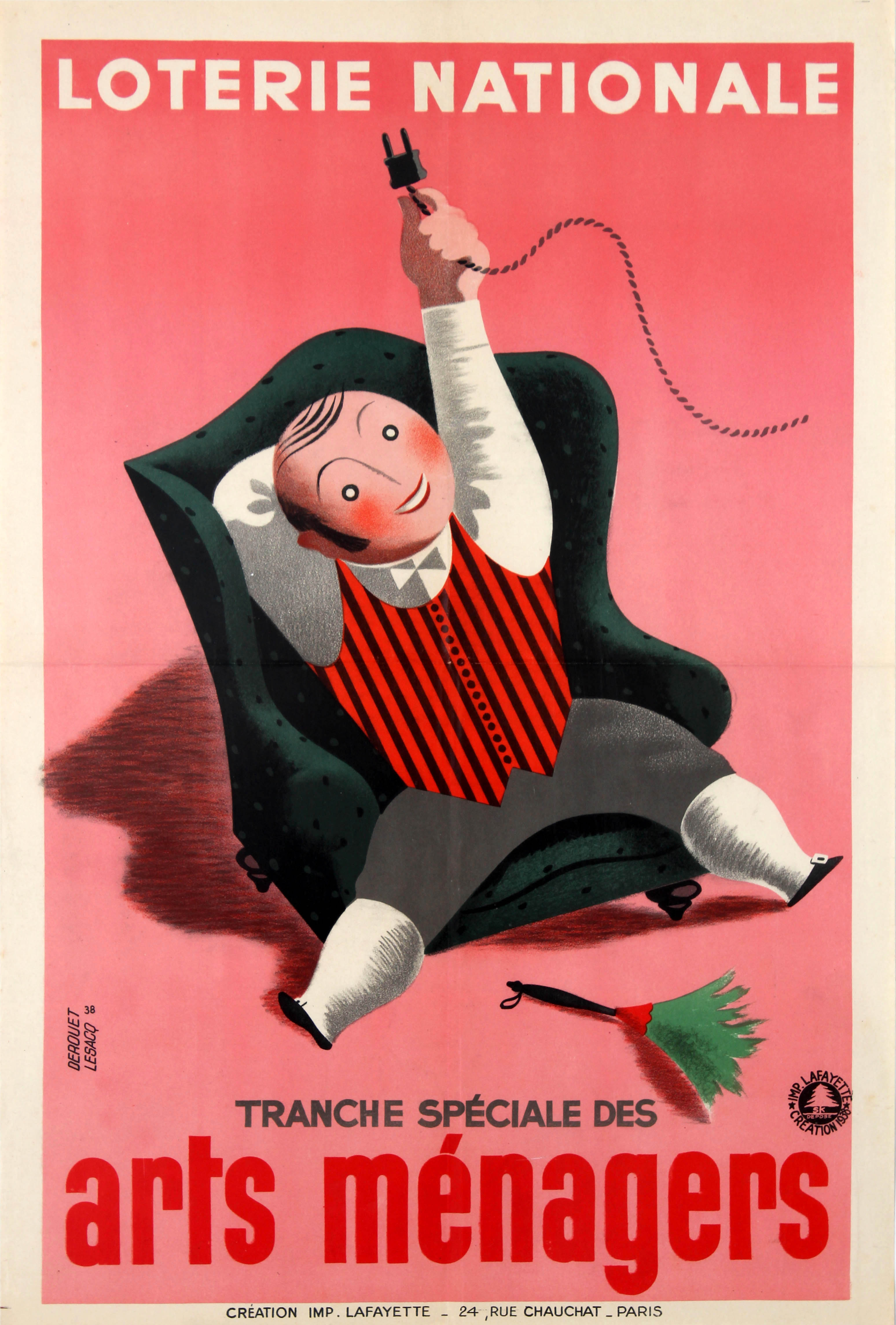 Advertising Poster Loterie Nationale Housekeeping