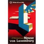 Advertising Poster Luxemburg Trade Fair Midcentury Modern