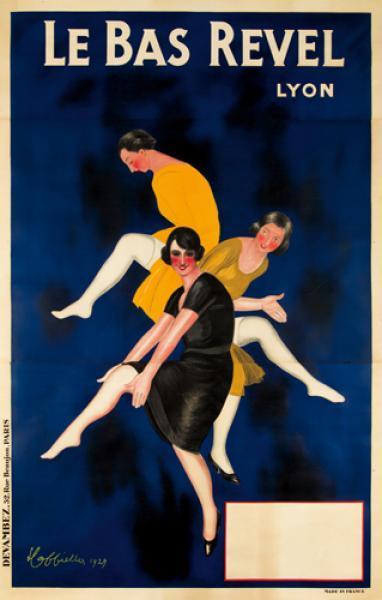 Original Advertising Poster Leonetto Cappiello Silk Stockings Le Bas Revel