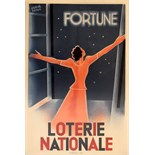 Advertising Poster Loterie Nationale - Fortune