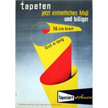 Advertising Poster Tapeziert Wallpaper Midcentury