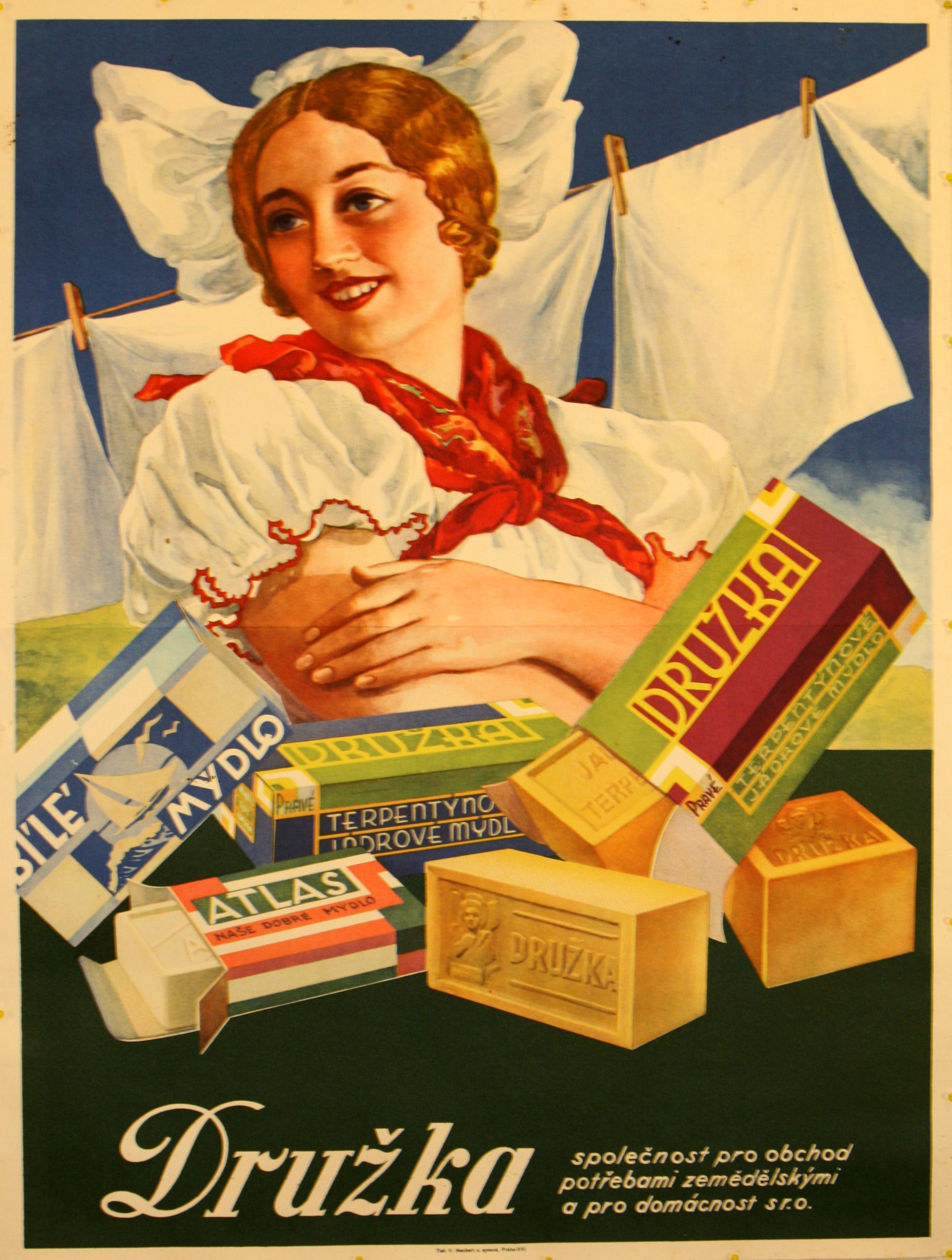 Advertising Poster Girlfriend Soap