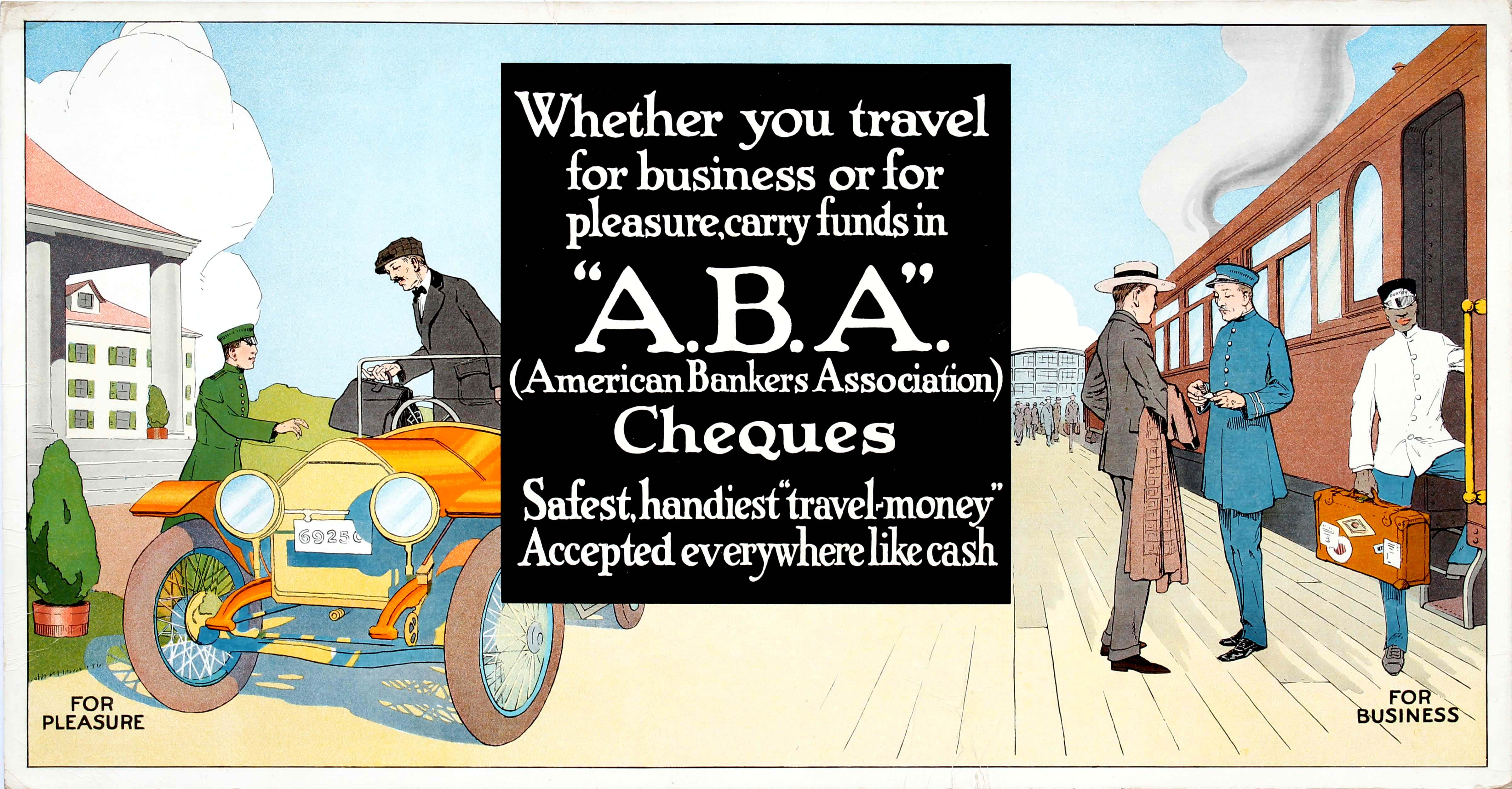 Advertising Poster American Bankers Association Cheques