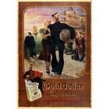 Advertising Poster Gold Dollar Cigarettes Sailor