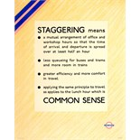 Advertising Poster LT Staggering WWII London Underground