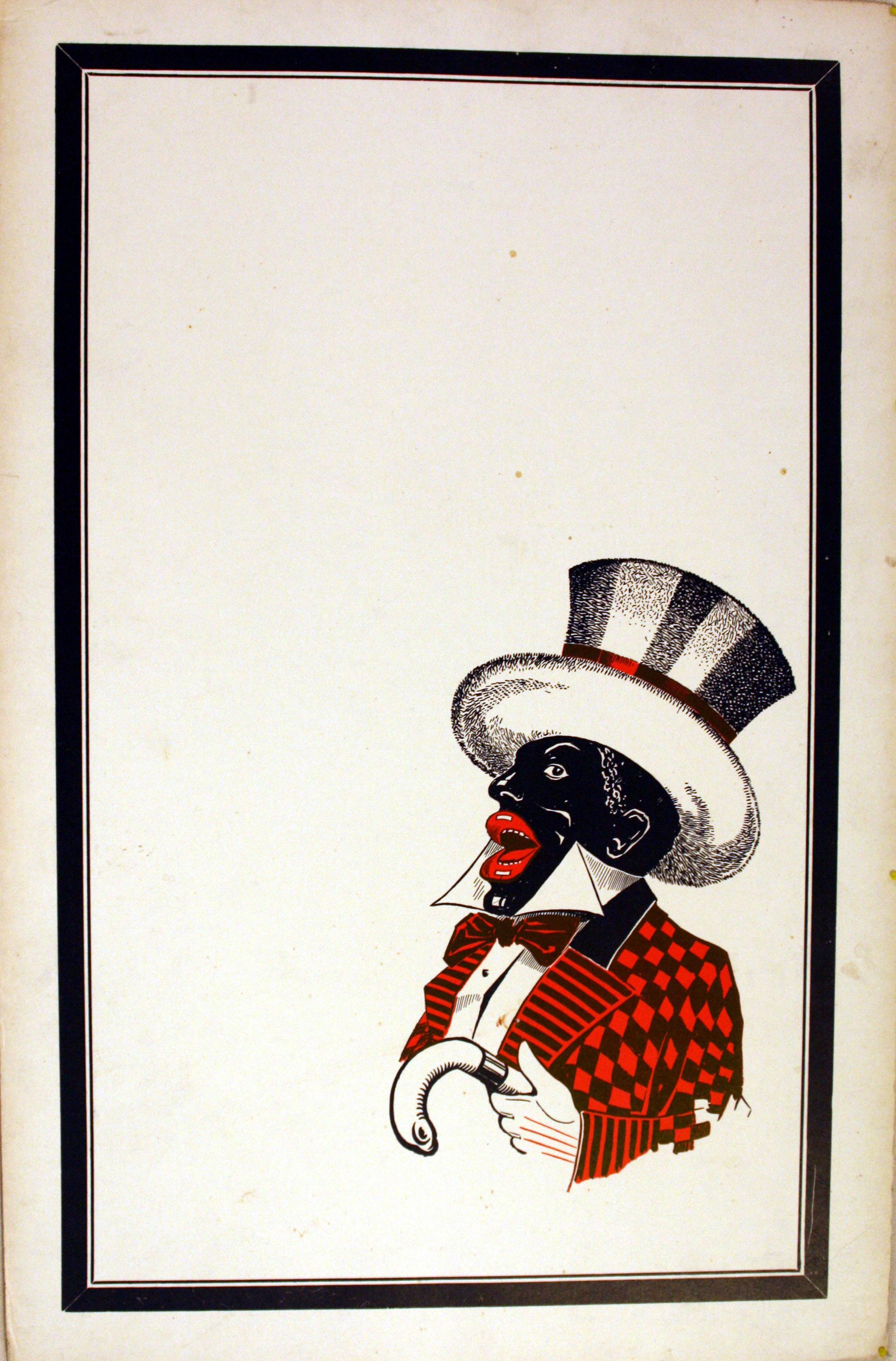 Advertising Poster Cabaret Minstrel