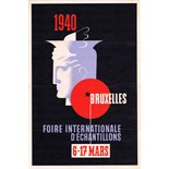 Advertising Poster Brussels 1940 Art Deco Fair