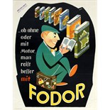 Advertising Poster Fodor Travel Guides