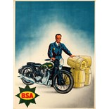 Advertising Poster BSA Motorcycle