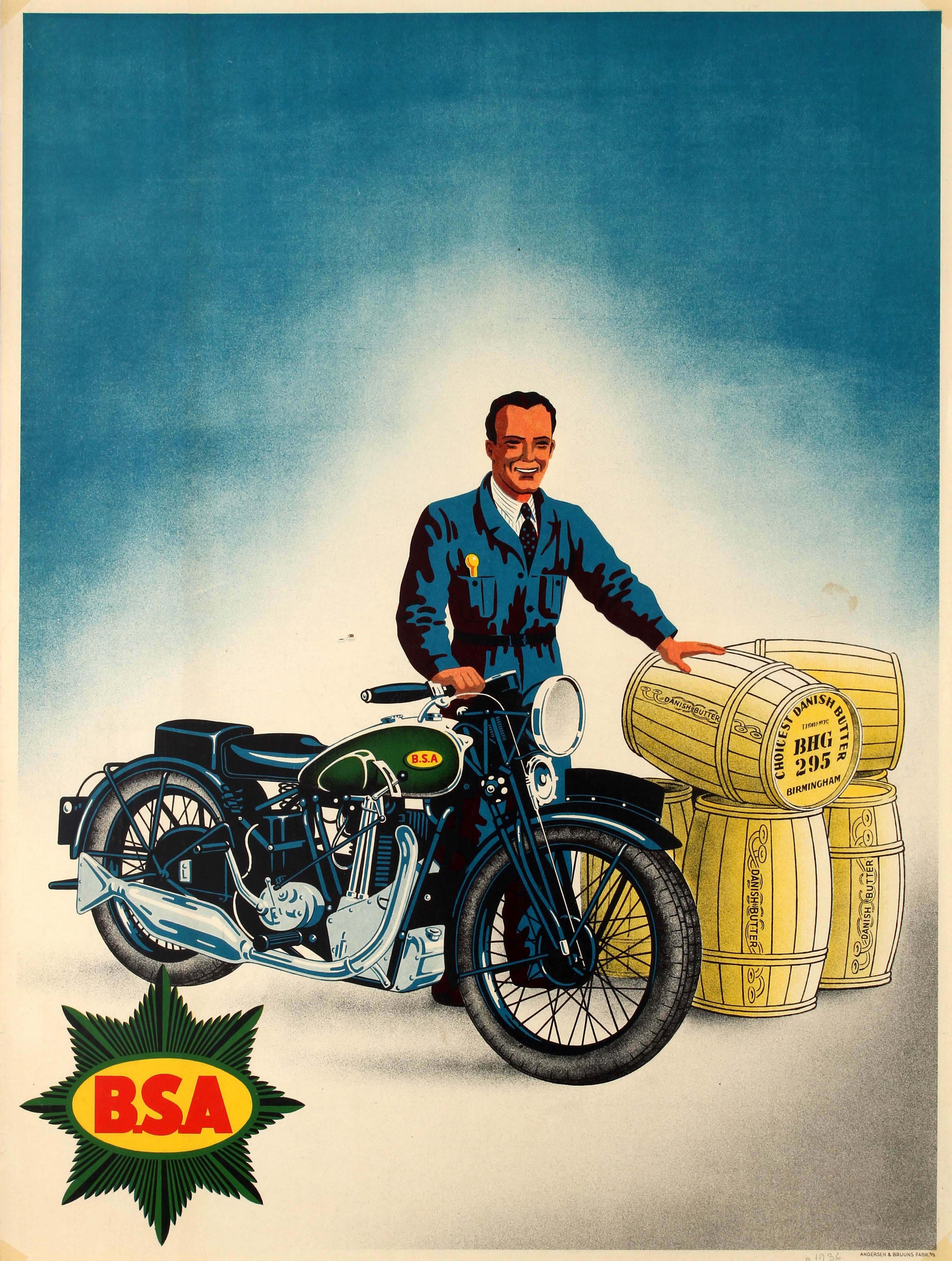 Advertising Poster BSA Motorcycle