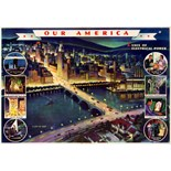 Advertising Poster Our America Electrical Power Coca Cola
