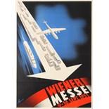 Advertising Poster Vienna Fair Wiener Messe Midcentury Modern
