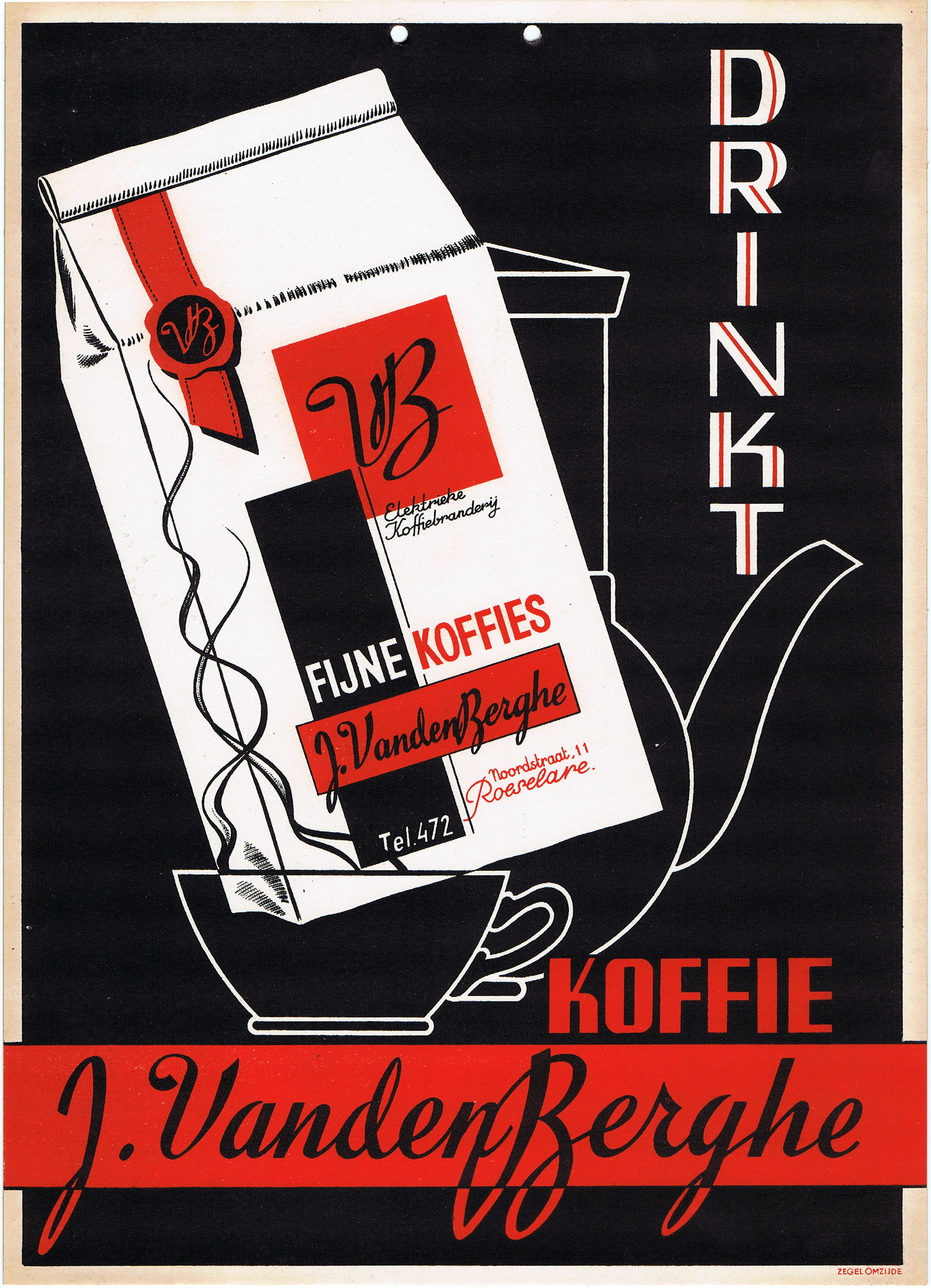 Advertising Poster Drink Coffee