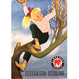 Advertising Poster Elephant Shoes - Girl in a tree