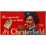 Advertising Poster Chesterfield WWII Joan Bennett US Air Force
