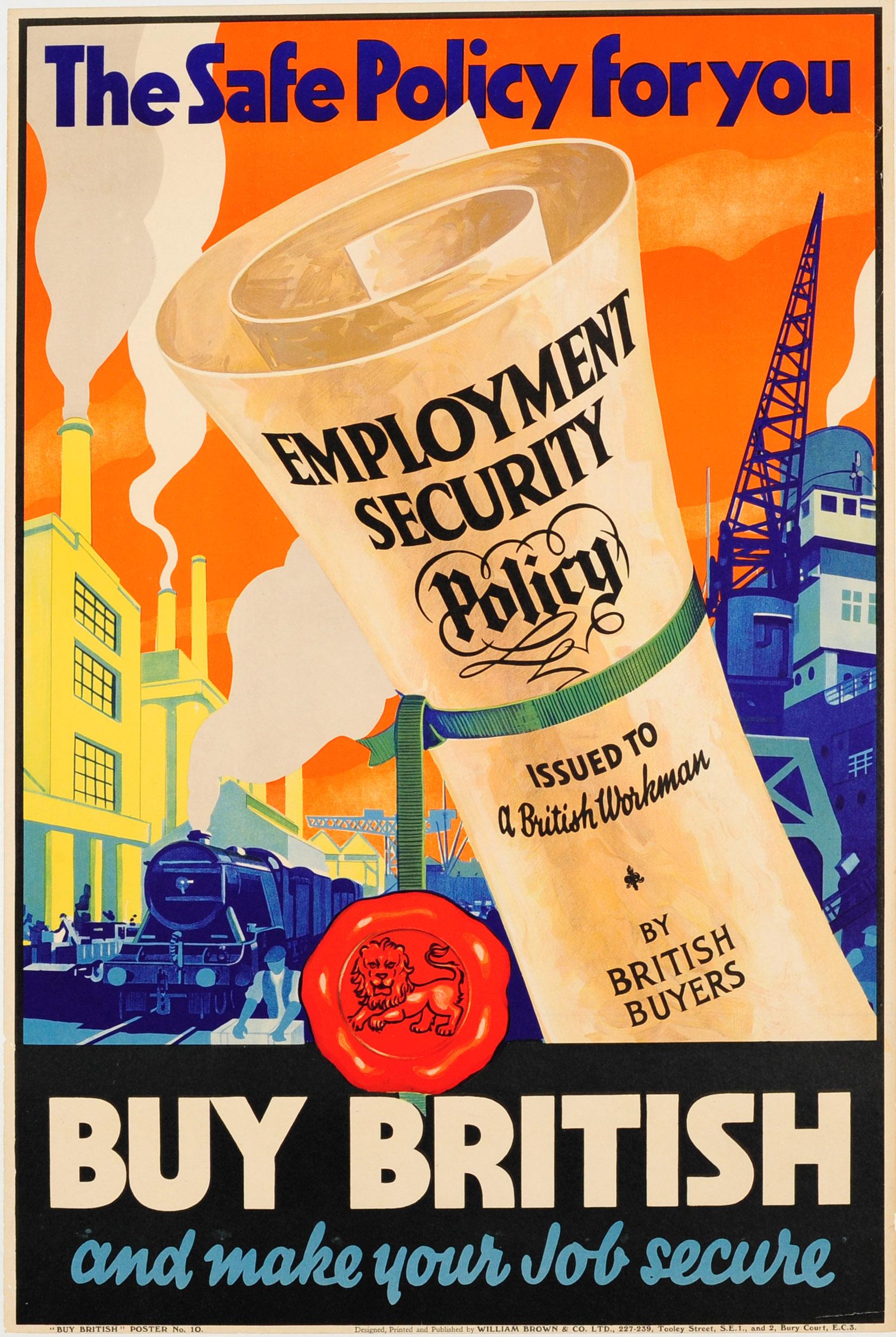 Advertising Poster Buy British EMB Empire Marketing Board