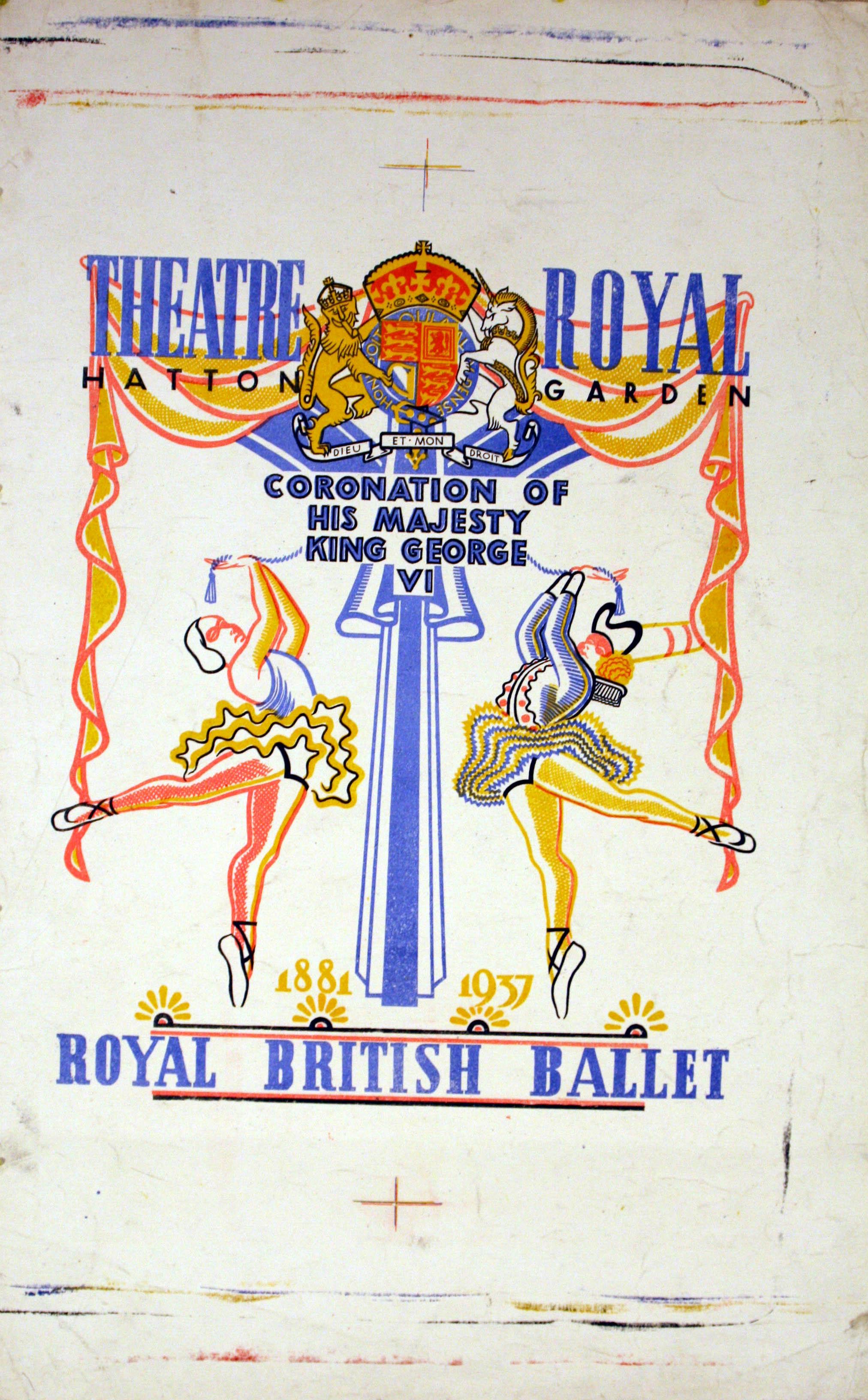 Advertising Poster Royal British Ballet 1937 Coronation