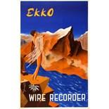 Advertising Poster Ekko Wire Recorder