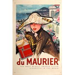 Advertising Poster Madeira Maurier Cigarettes