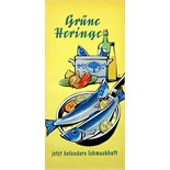 Advertising Poster Eat Herring Fish Poster Midcentury Modern