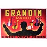 Advertising Poster Grandin Radio Midcentury Modern