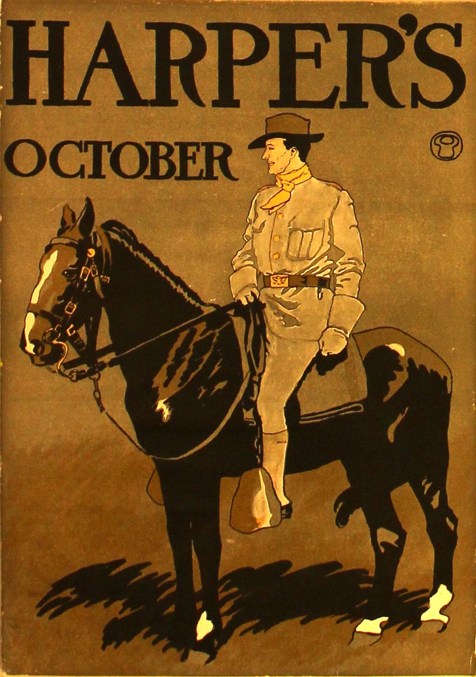 Advertising Poster Harper's October - cavalry trooper