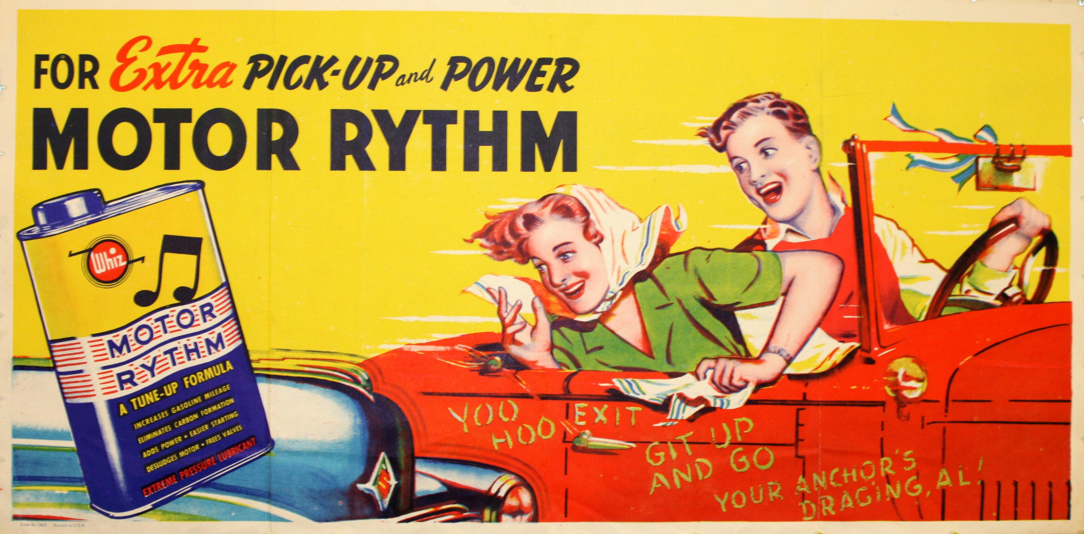Advertising Poster Whiz Motor Rythm Oil