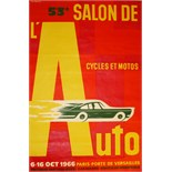Advertising Poster 53rd Auto Salon Fix Masseau
