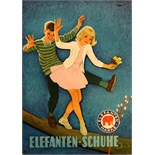 Advertising Poster Elephant Shoes - Boy and Girl