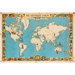 Advertising Poster Mothers Union World Map Charity