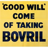 Advertising Poster Bovril: Good Will Come of Taking Bovril