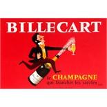 Advertising Poster Billecart Champagne Herve Moran